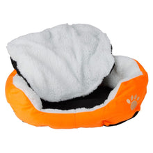 Load image into Gallery viewer, Cotton Pet Dog Bed Warm Waterloo with Pad Orange S Size - Great Dog Shop