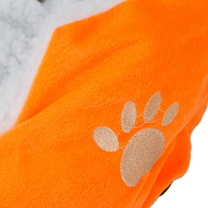 Cotton Pet Dog Bed Warm Waterloo with Pad Orange S Size - Great Dog Shop