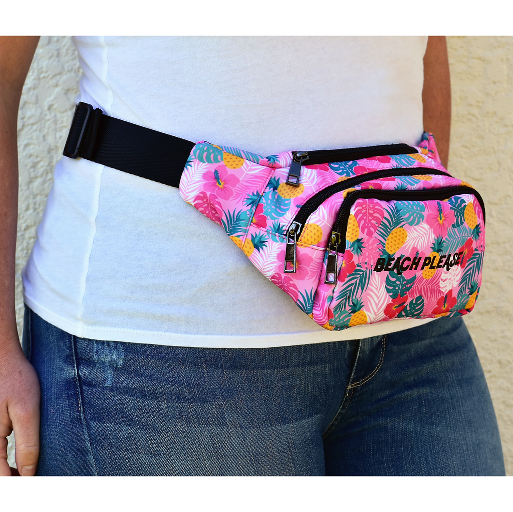The-Official-Retro-Bag-Shop-Beach-Please-Fanny-Pack-Front-Model