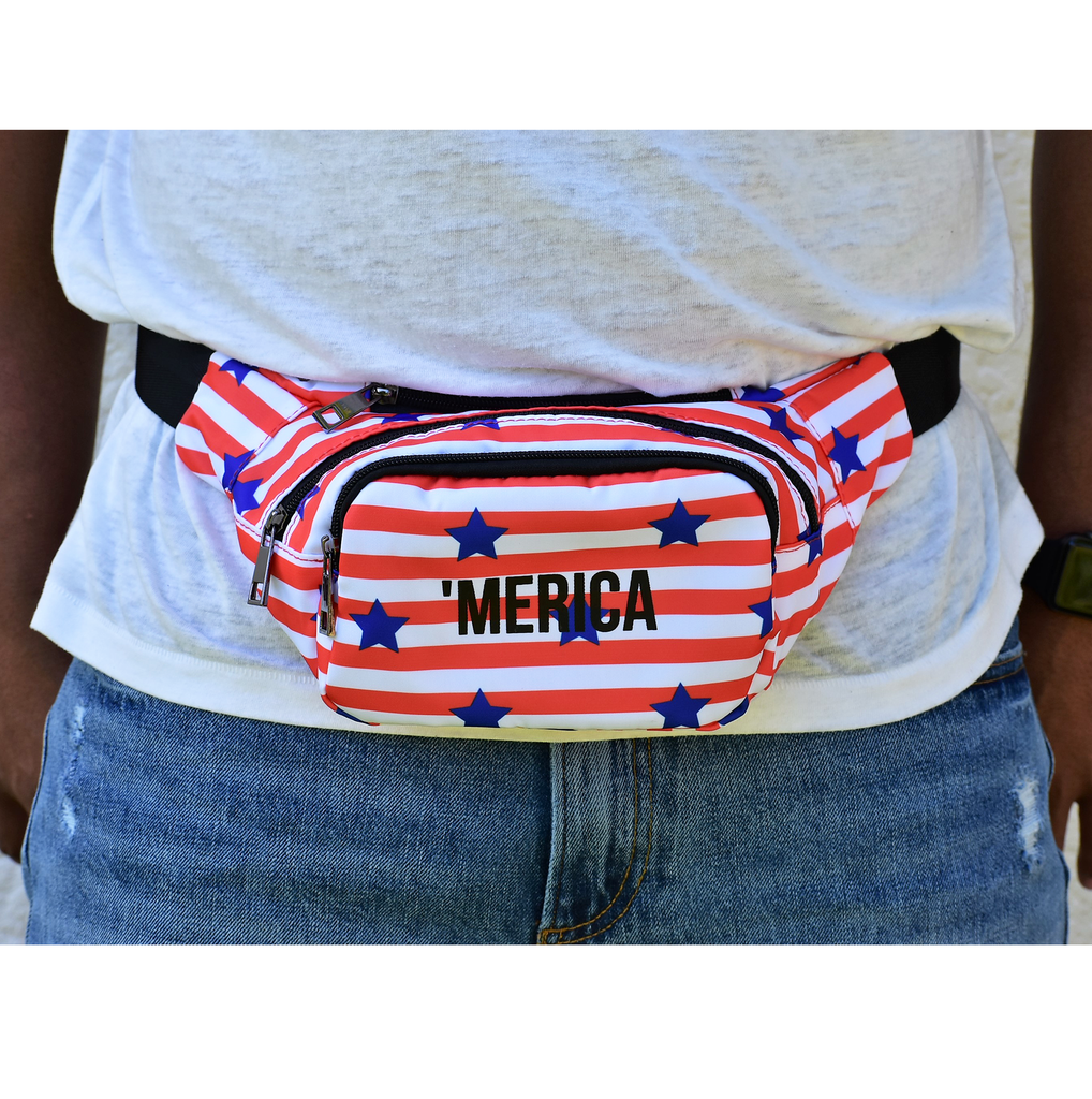 The-Official-Retro-Bag-Shop-'Merica-Fanny-Pack-Front-Model