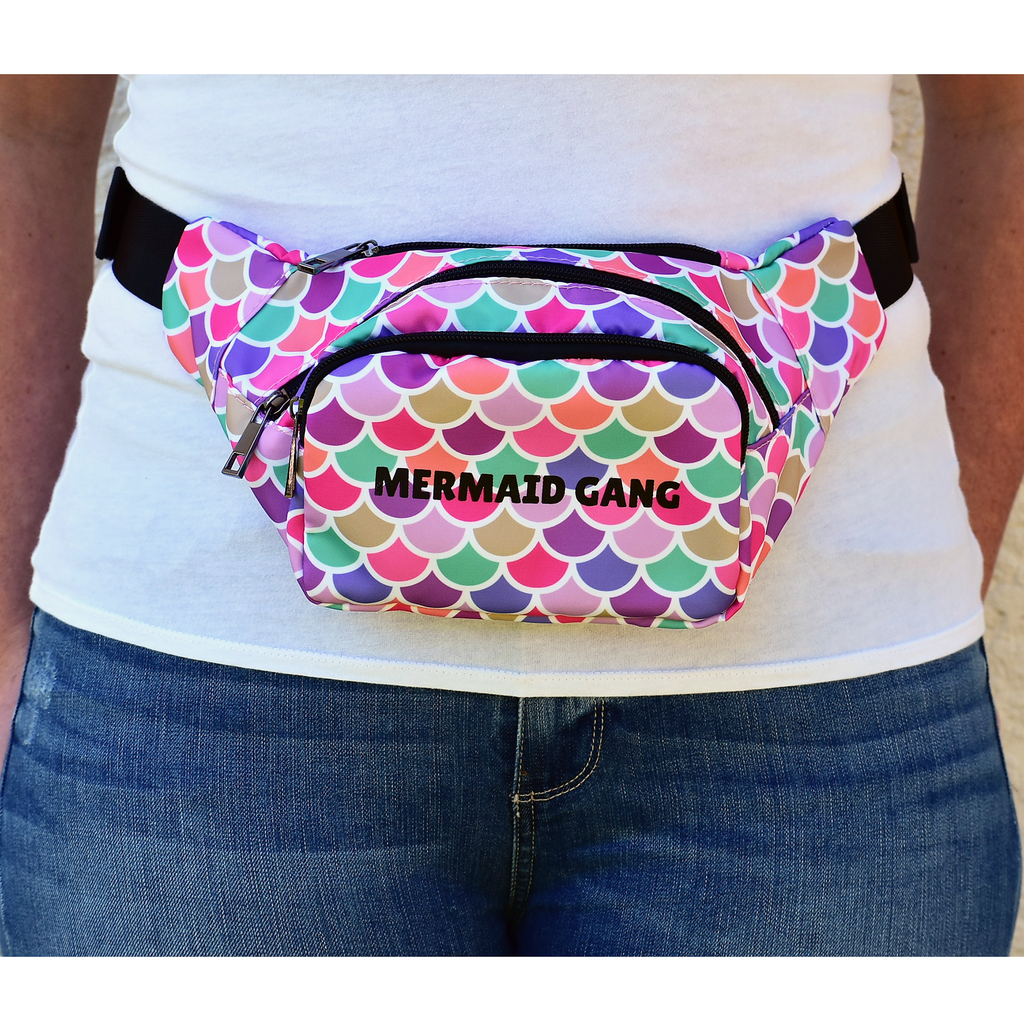 The-Official-Retro-Bag-Shop-Mermaid-Gang-Fanny-Front-Model