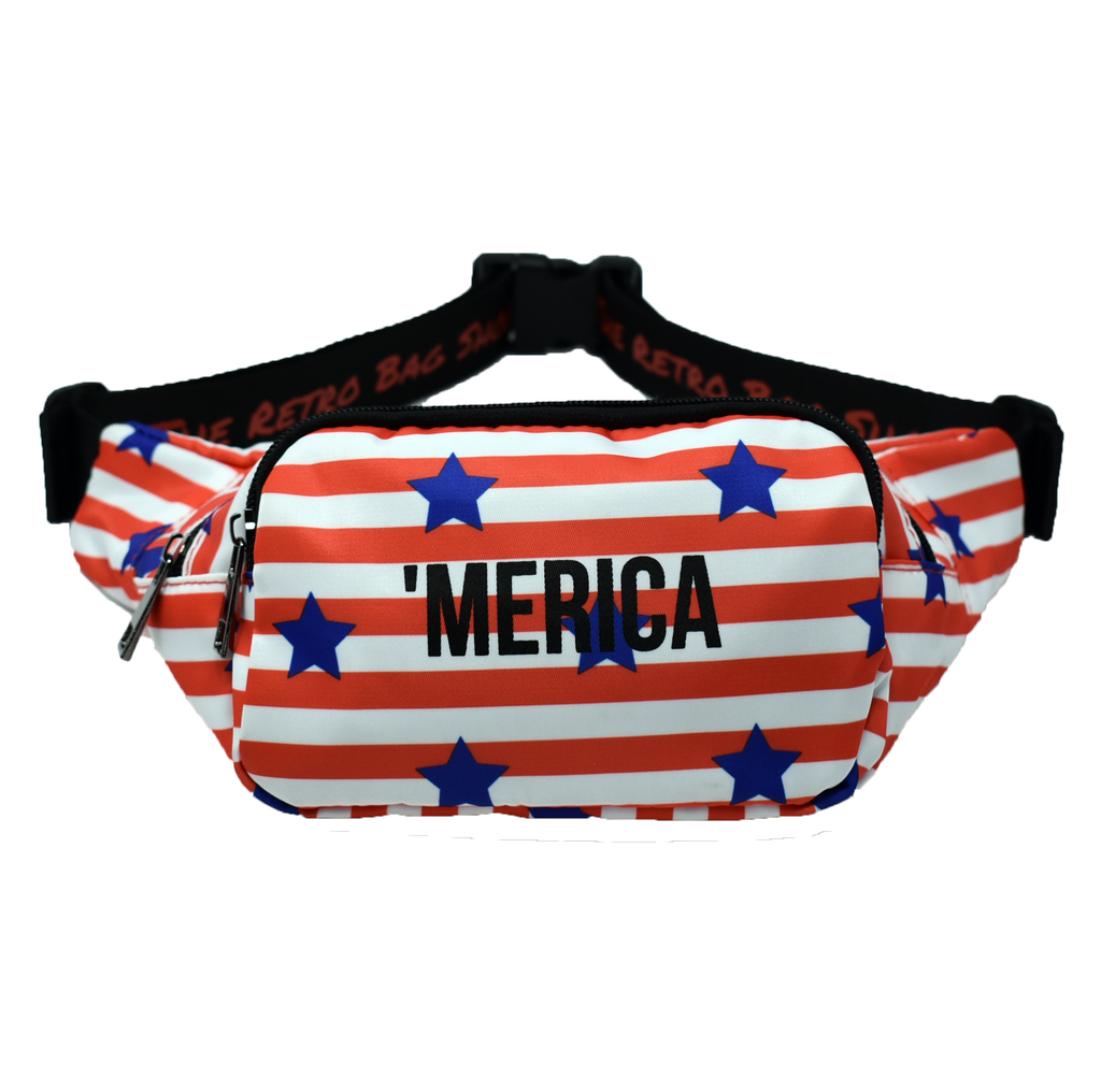 The-Official-Retro-Bag-Shop-'Merica-Fanny-Pack-Front-View
