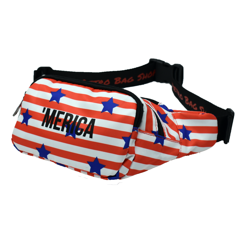 The-Official-Retro-Bag-Shop-'Merica-Fanny-Pack-Front-Side-View