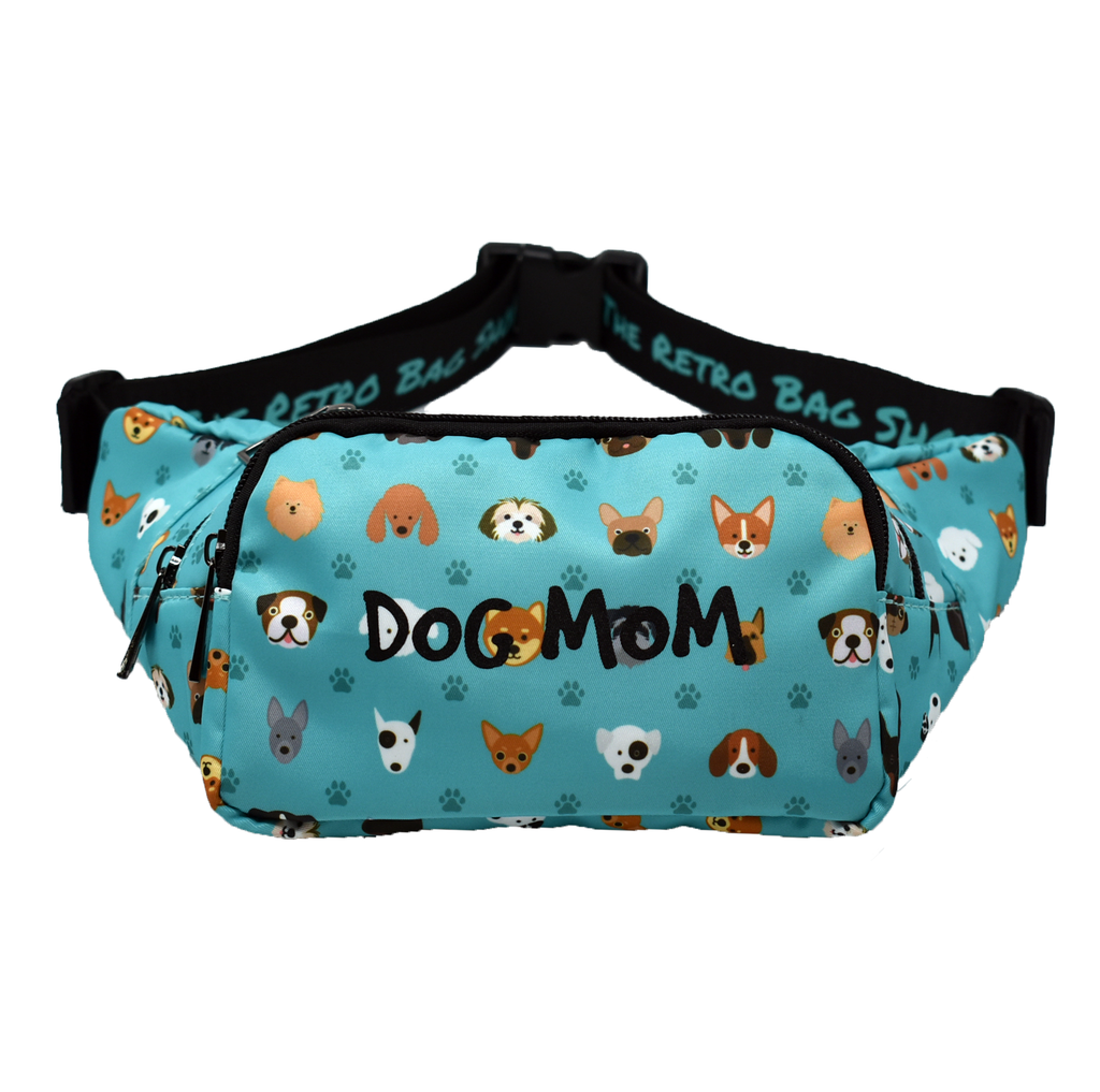 The-Official-Retro-Bag-Shop-Dog-Mom-Fanny-Pack-Front-View