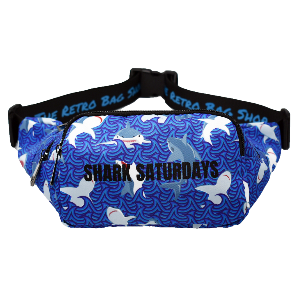 The-Official-Retro-Bag-Shop-Shark-Saturday-Fanny-Pack-Front-View