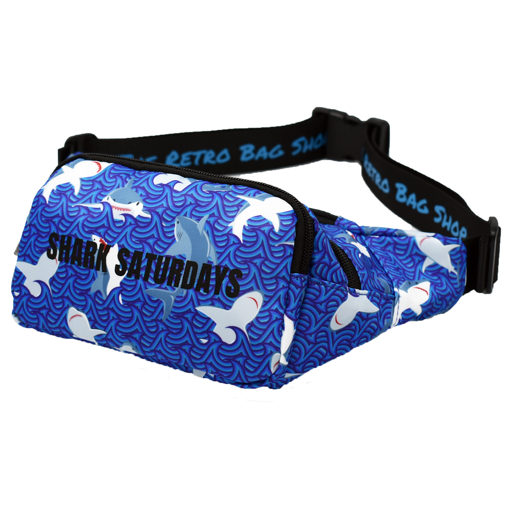 The-Official-Retro-Bag-Shop-Shark-Saturday-Fanny-Pack-Side-View
