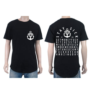 Diamond Text TALL Black T-Shirt