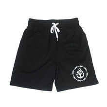Barbed Logo Black Court Shorts