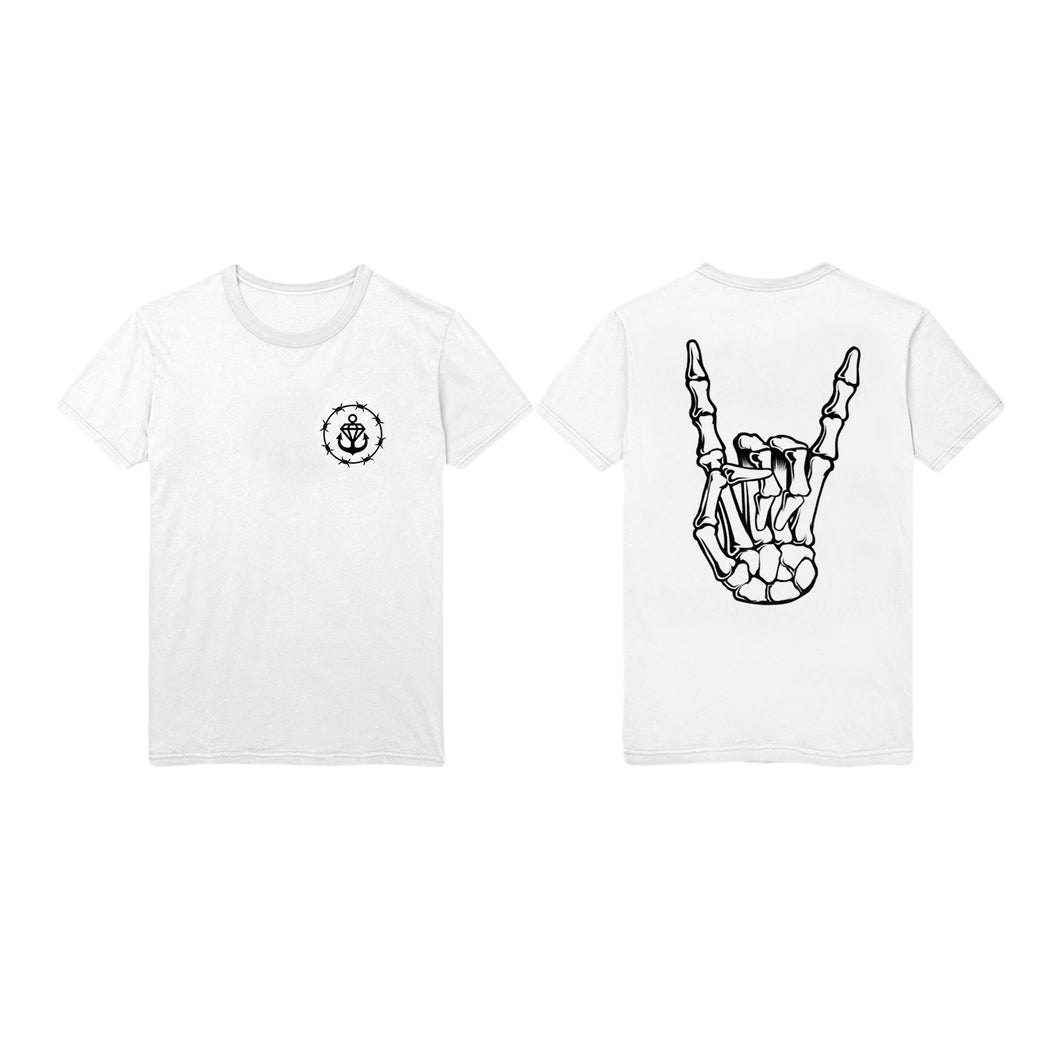 Barbed Horns White T-Shirt