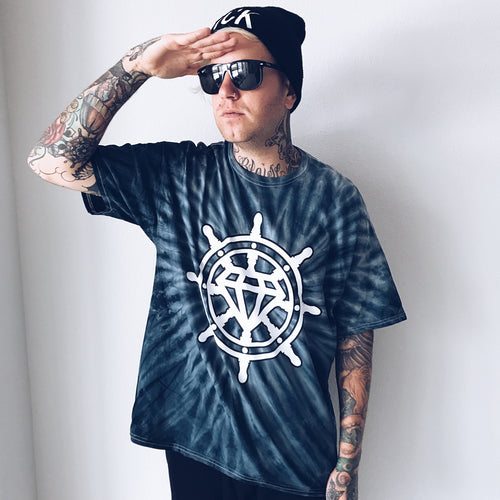 Guide Logo Cyclone Black Tie Dye T-Shirt
