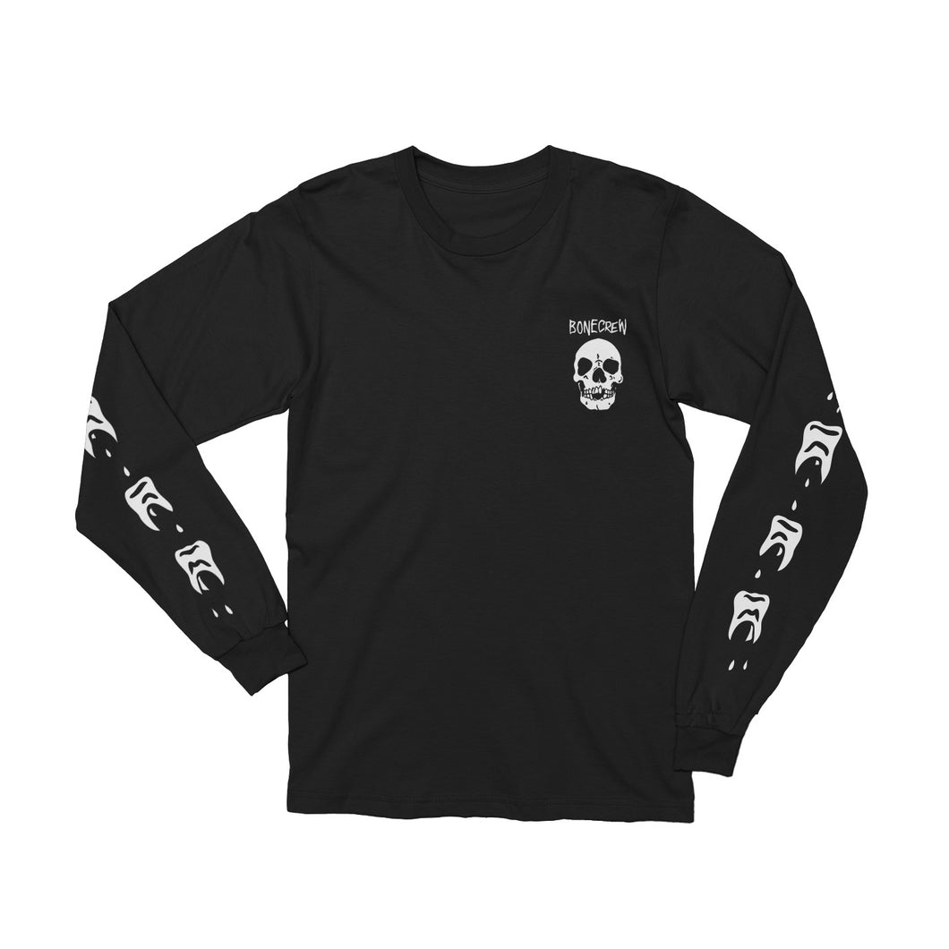 Teeth Black Long Sleeve