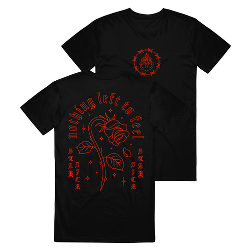Dying Rose Black T-Shirt