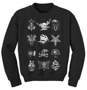 Tattoo Flash Black Crewneck