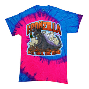 All Hail The King Blue/Pink Tie Dye T-Shirt