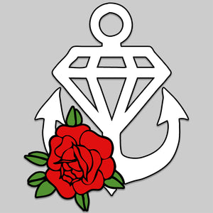 Rose Anchor Car Decal