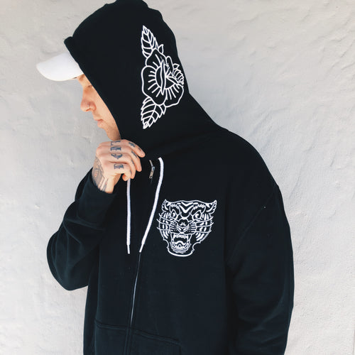 Tiger Black Zip Up