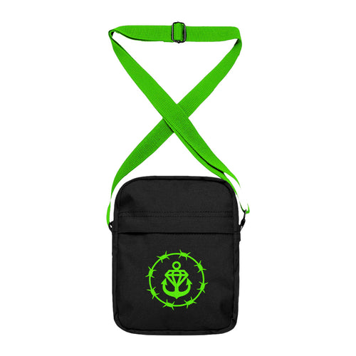Barbed Logo Black/Slime Green Side Bag