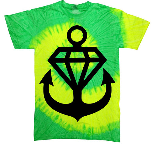 Anchor Diamond Tie Dye T-Shirt