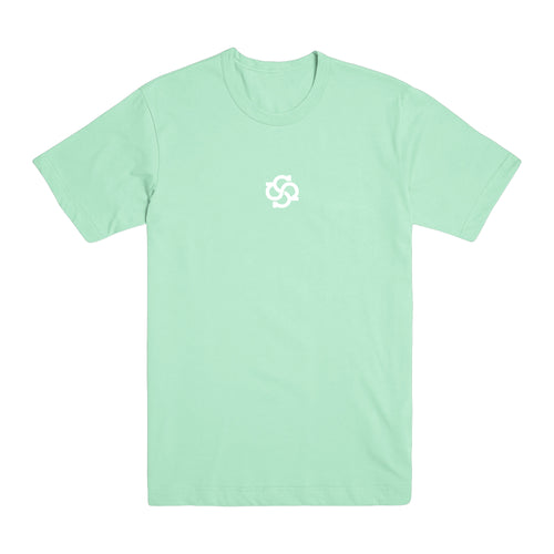 Model Logo Pastel Mint Green T-Shirt