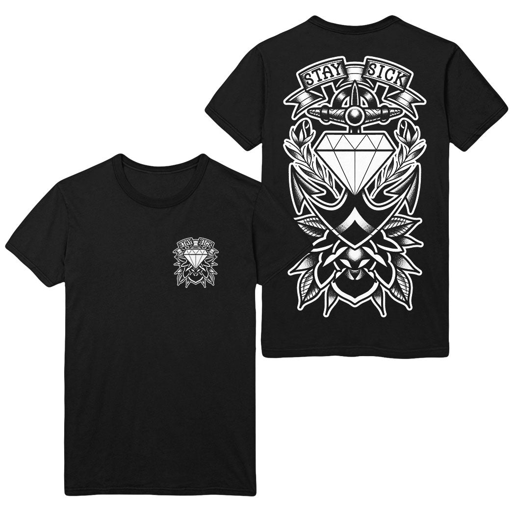 Tattoo Anchor Black T-Shirt