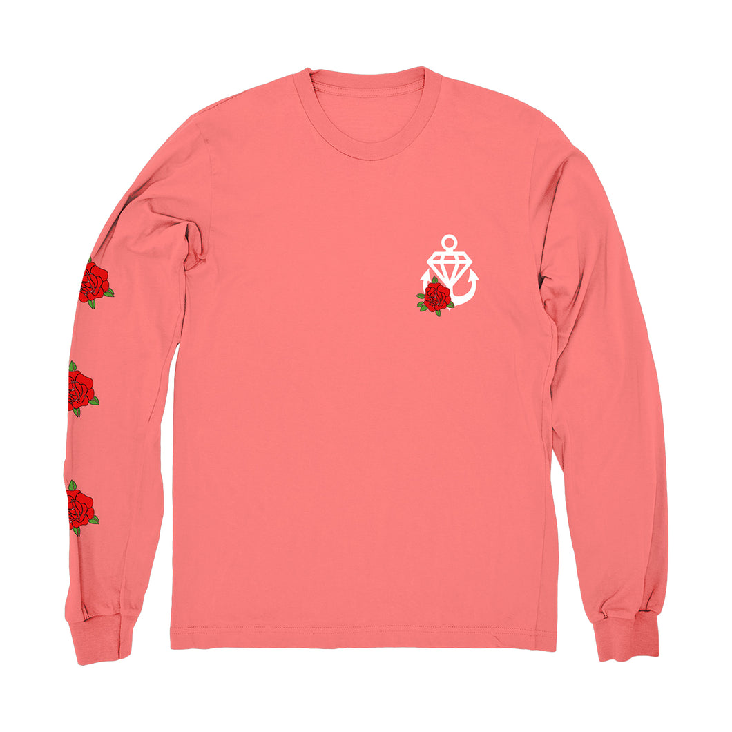 Flower Coral Long Sleeve