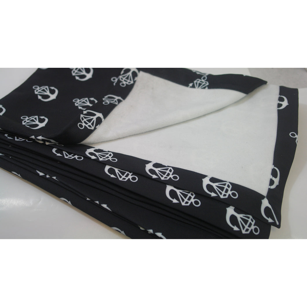 Diamond Logo Black Blanket