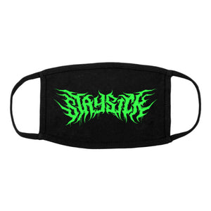 Death Metal Logo Black Face Mask