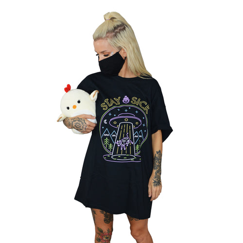 Neon Abduction Black T-Shirt