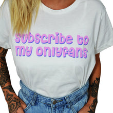 Onlyfans Cropped White Girl's Shirt