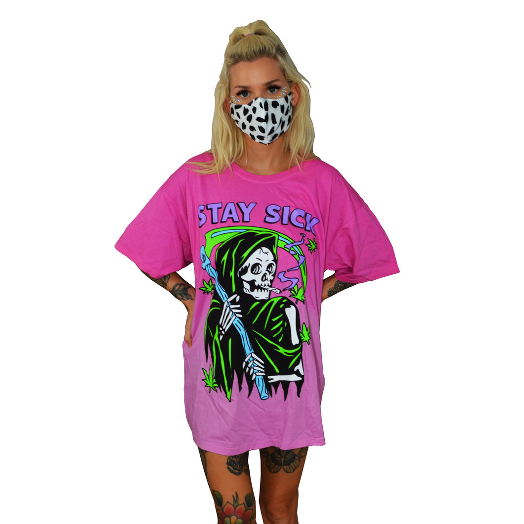 Grim Reefer Pink Ombre T-Shirt