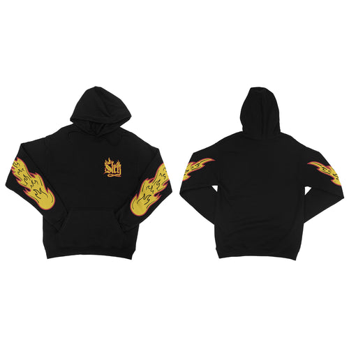 Flames Black Pullover