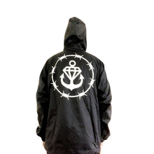 Rose Black Pullover Windbreaker
