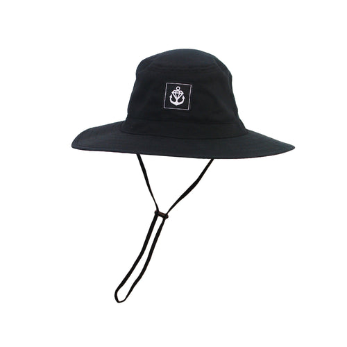 Logo Sew Tag Black Bucket Hat
