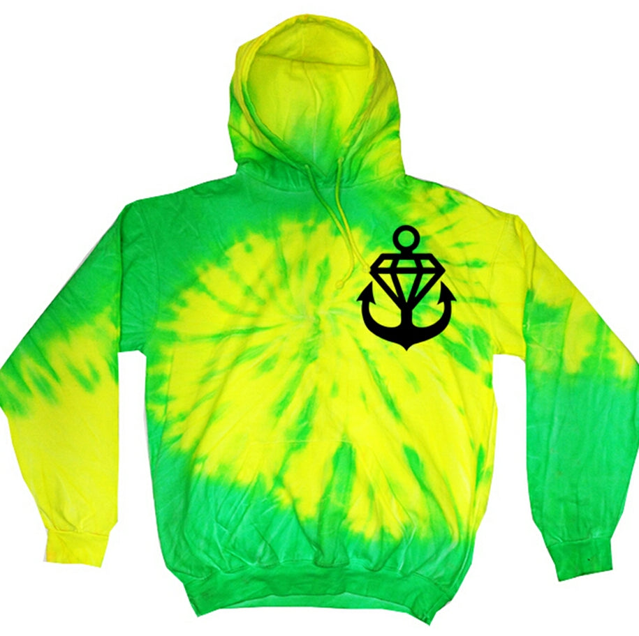 SLiMESQUAD Anchor Tie Dye Pullover