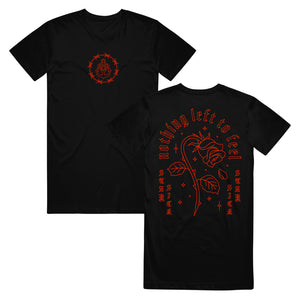 Dying Rose TALL Black T-Shirt