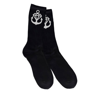Anchor Logo Black Socks