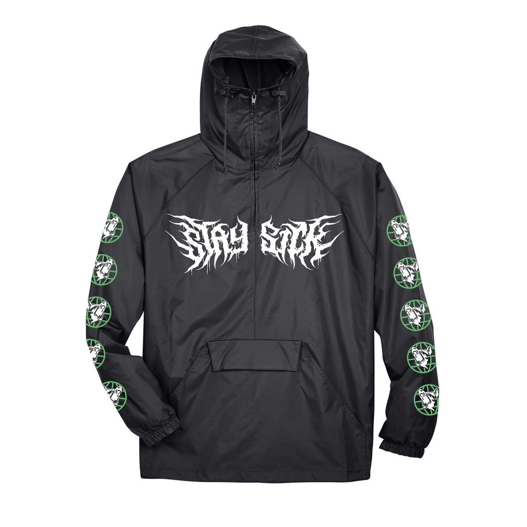 Dogs Black Windbreaker