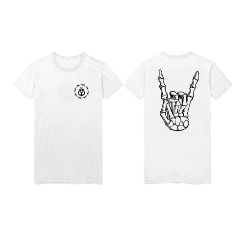 Barbed Horns TALL White T-Shirt