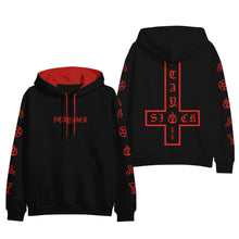 Occult Symbols Red/Black Contrast Pullover