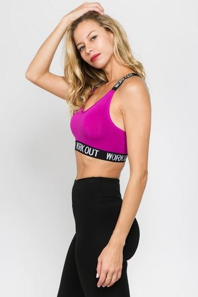 """Work Out"" Sports Bra (3 Colors) - solowomen"