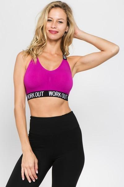 """Work Out"" Sports Bra"