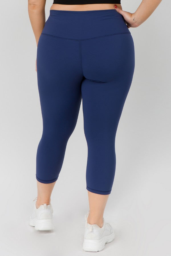 Women's Active Buttery Soft Capri Leggings (Queen/Plus Size)(2 Colors)