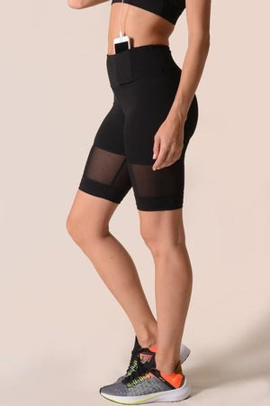 Women's Mesh Detail Cycling Shorts (S - L)(2 Colors)