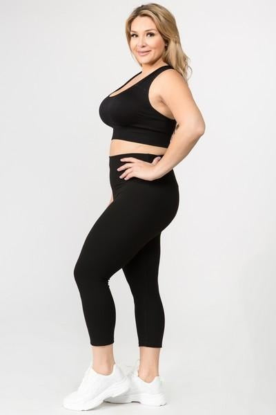 Women's Active Buttery Soft Capri Leggings (Queen/Plus Size)