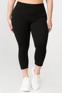 Women's Active Buttery Soft Capri Leggings (Queen/Plus Size) - solowomen