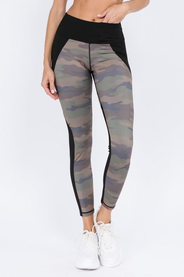Women's Active Color Block Camouflage Leggings (S-L) - solowomen