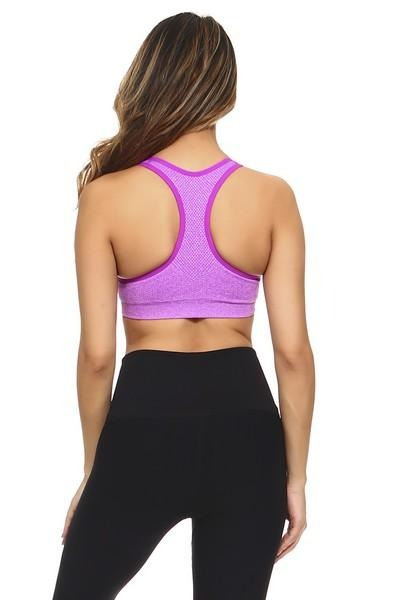 Women's Marled Knit Sports Bra (5 Colors)
