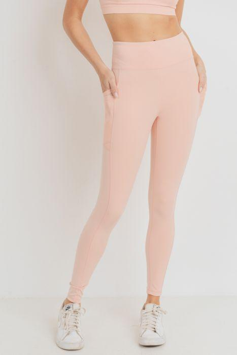 Eco-friendly High Waist Mesh Side Pocket Leggings (3 Colors)(S-L)
