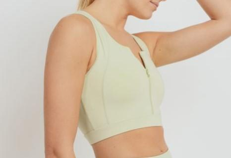 Eco-friendly Zip Front Sports Bra (3 Colors)(S-L) - solowomen