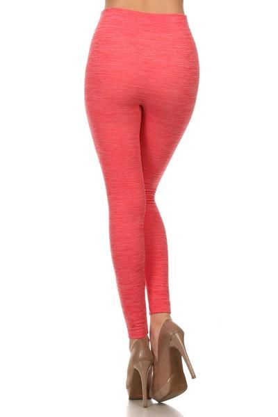 Lady's Full Length Seamless Fleece Leggings (5 Colors) - solowomen